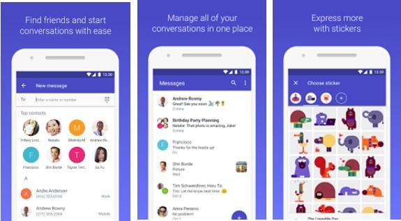 تطبيق Android Message لارسال الرسائل النصية للأندرويد مجانا