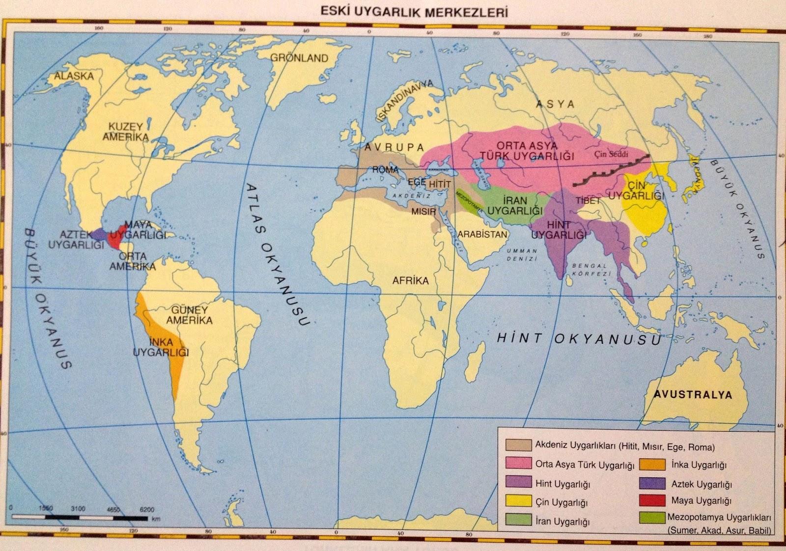 2 ilk cag uygarlik merkezleri haritasi