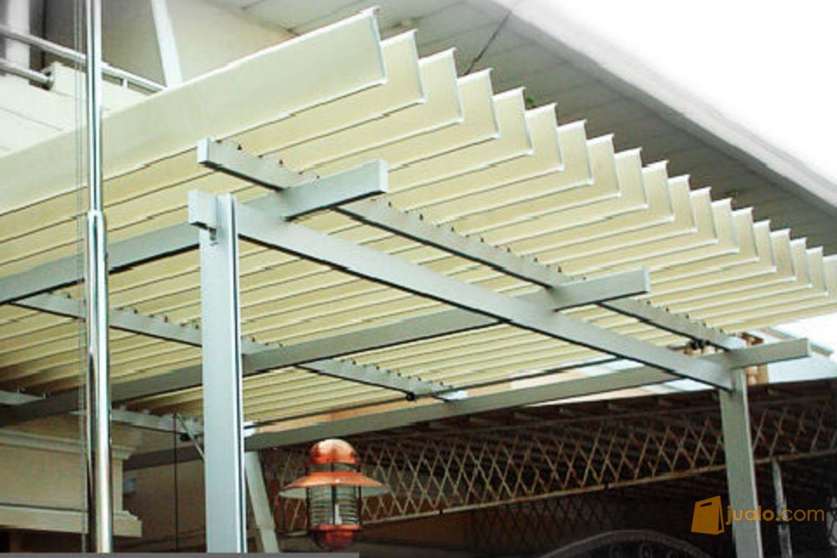 TRIJAYA Steel Bandung: 0813 1200 4375 Kanopi Buka Tutup Otomatis Elegan  Minimalis