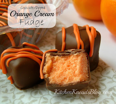 Chocolate Dipped Orange Cream Fudge Kitchen Kneads