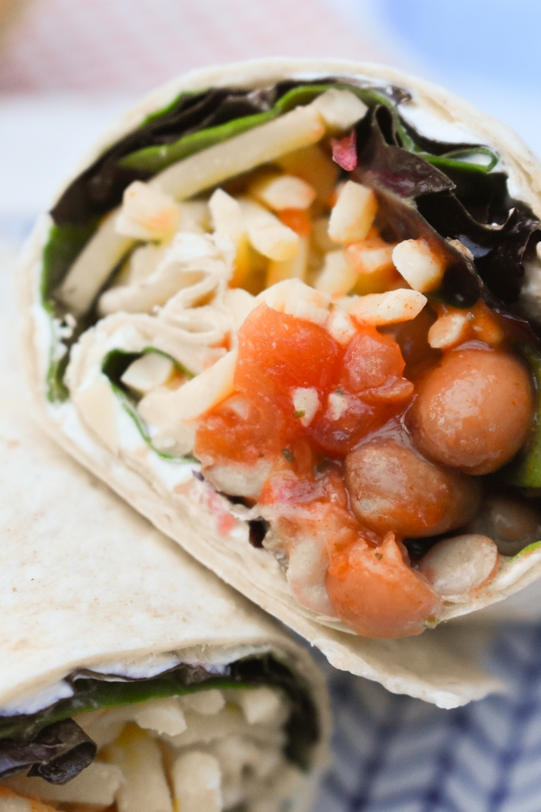 Spicy Bean Lunch Wrap (copycat vegan recipe)