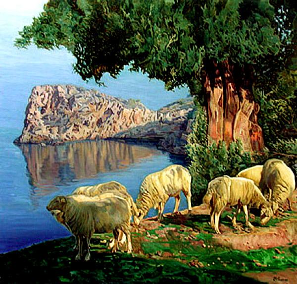 Bartolome Estades Sastre, Sa Foradada, Mallorca en Pintura, Mallorca pintada, Paisajes de Mallorca, Mallorca en Pintura