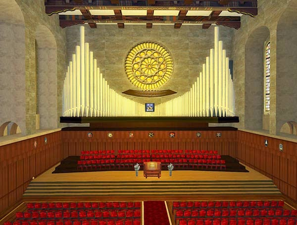 Winthrop Hall Interior - Facsimile in Second Life