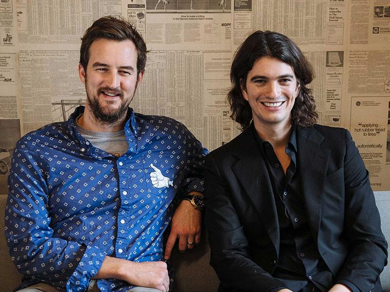 Основатели WeWork: Мигель МакКелви и Адам Ньюман