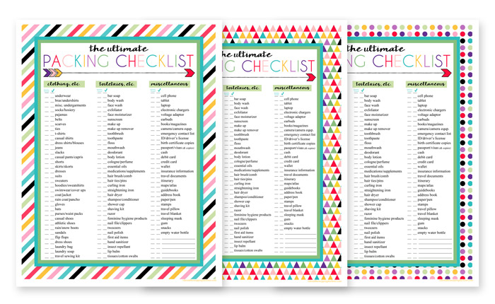 photo regarding Free Printable Packing List known as 3 No cost Printable Packing Checklist Downloads i need to be