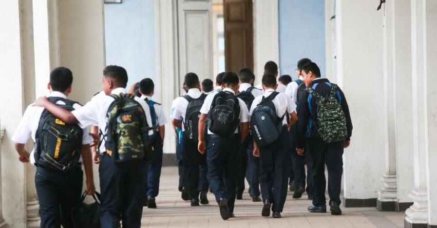 MINEDU: Colegios públicos y privados no pueden impedir ingreso a escolares que lleguen tarde - www.minedu.gob.pe