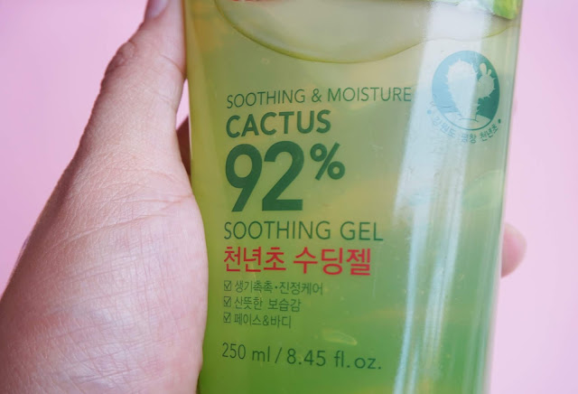 korean, skin care, cactus, shooting gel