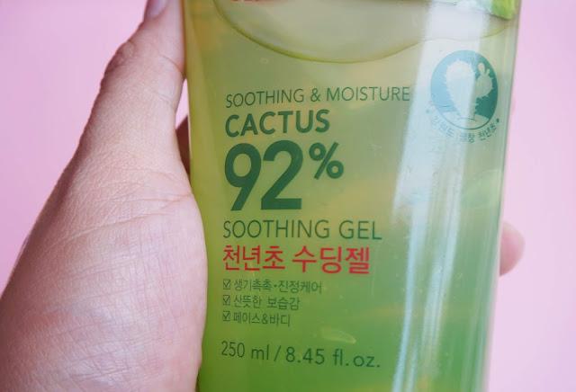 korean, skin care, cactus, shooting gel