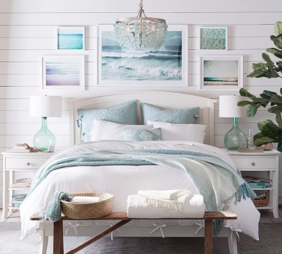 Ocean Blue Bedroom Making Waves