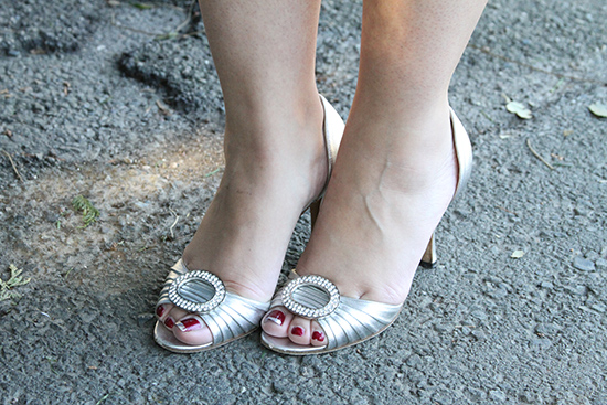 Manolo Blahnik Silver Sederaby Heels | Will Bake for Shoes