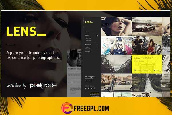 LENS - An Enjoyable Photography WordPress Theme Free Download