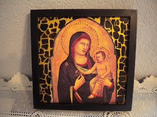 273—Ikona-  Maria z dzieciątkiem….