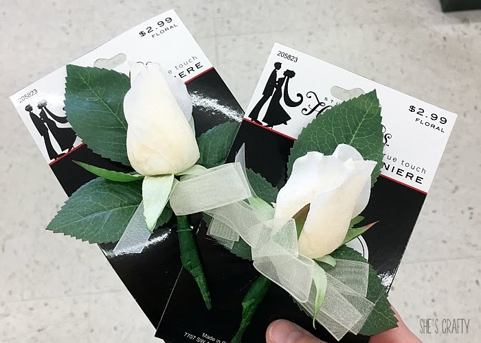 April Favorites - corsage and boutonniere from Hobby Lobby