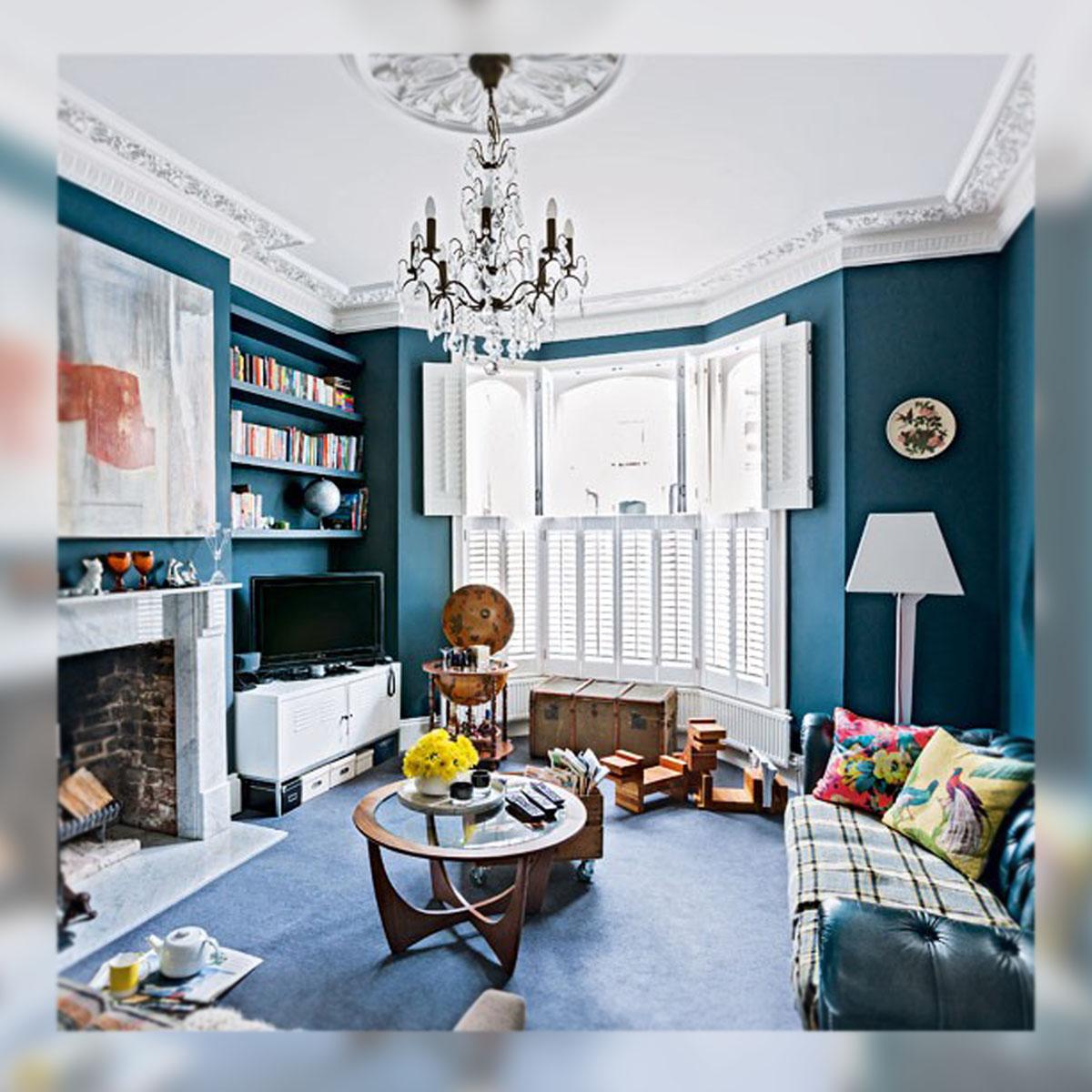 Decoracion un moderno apartamento victoriano la musa for Colores para apartamentos modernos