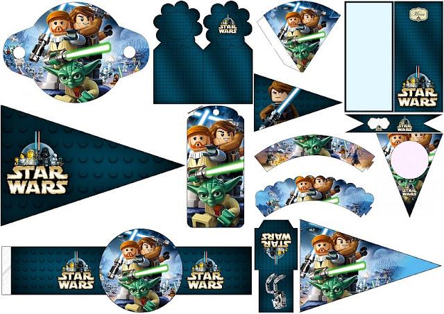 Star Wars Lego: Imprimibles Gratis para tus Fiestas.