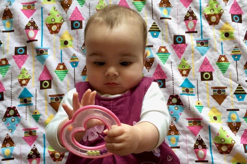 Vista del bebé con 8 meses