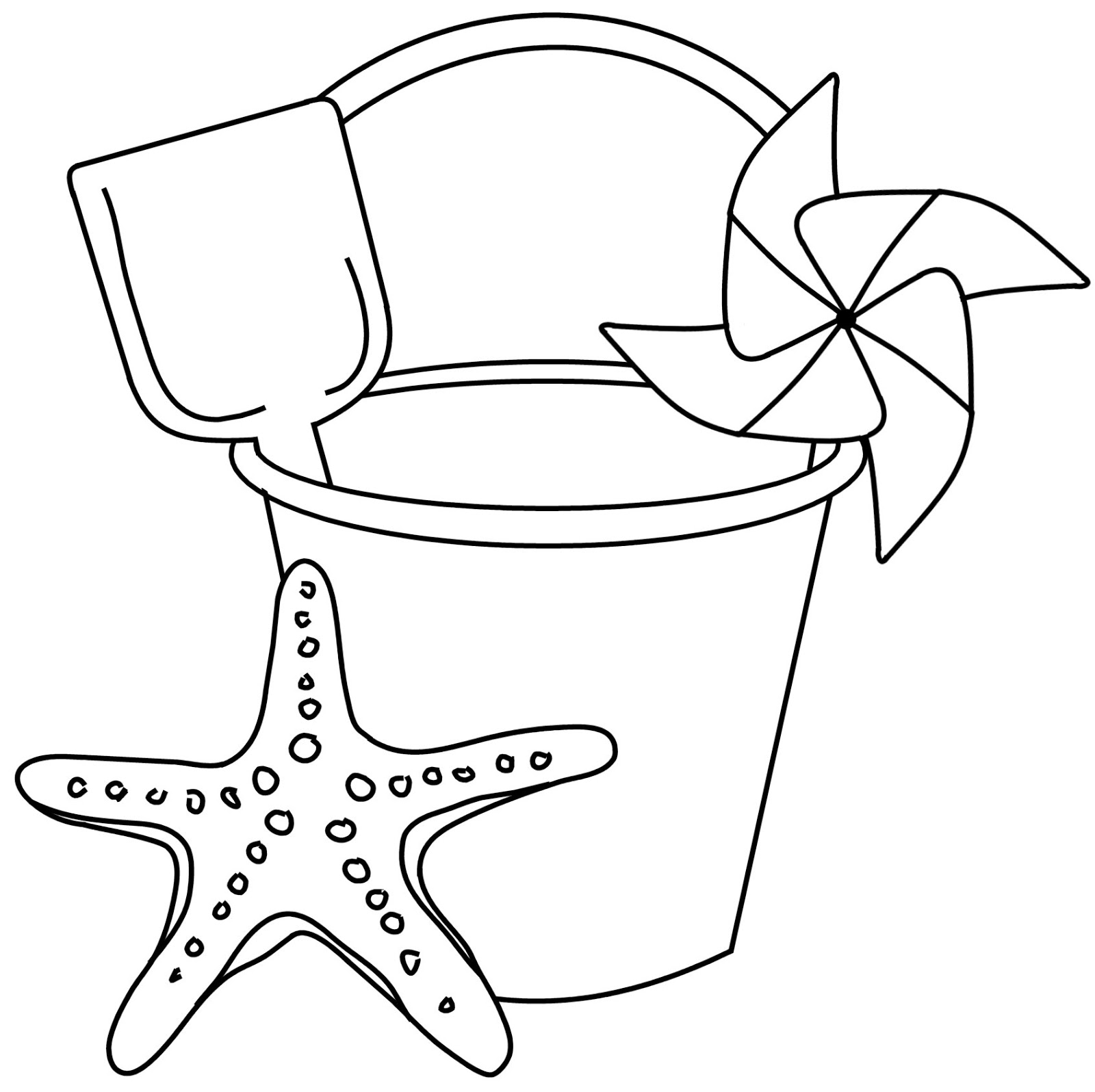 It's just a graphic of Geeky Sand Bucket Coloring Page