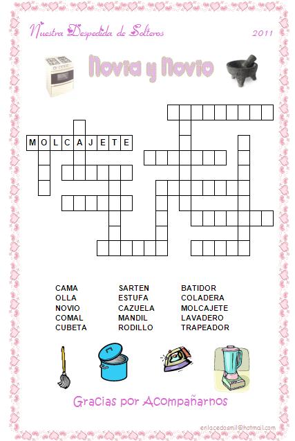 Crucigramas De Juegos Imagui