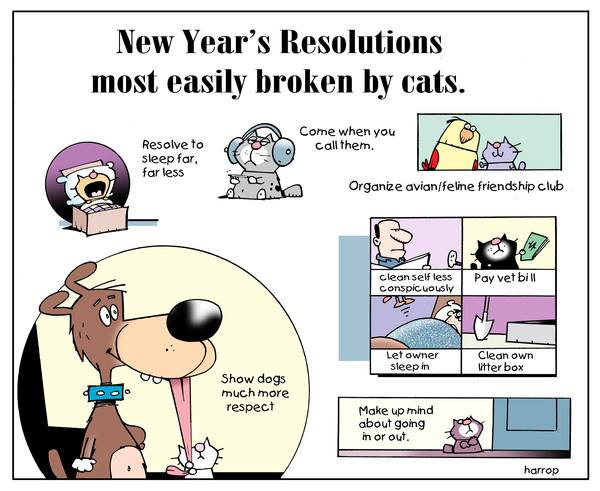 Mystery Fanfare: Cartoon of the Day: New Year\'s Resolutions Most ...