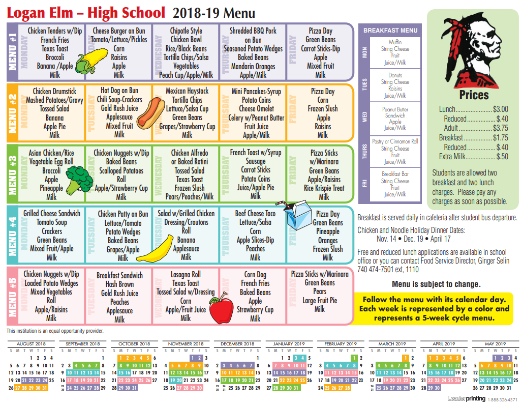 image about Newks Printable Menu called LOGAN ELM Substantial Higher education: LUNCH MENU