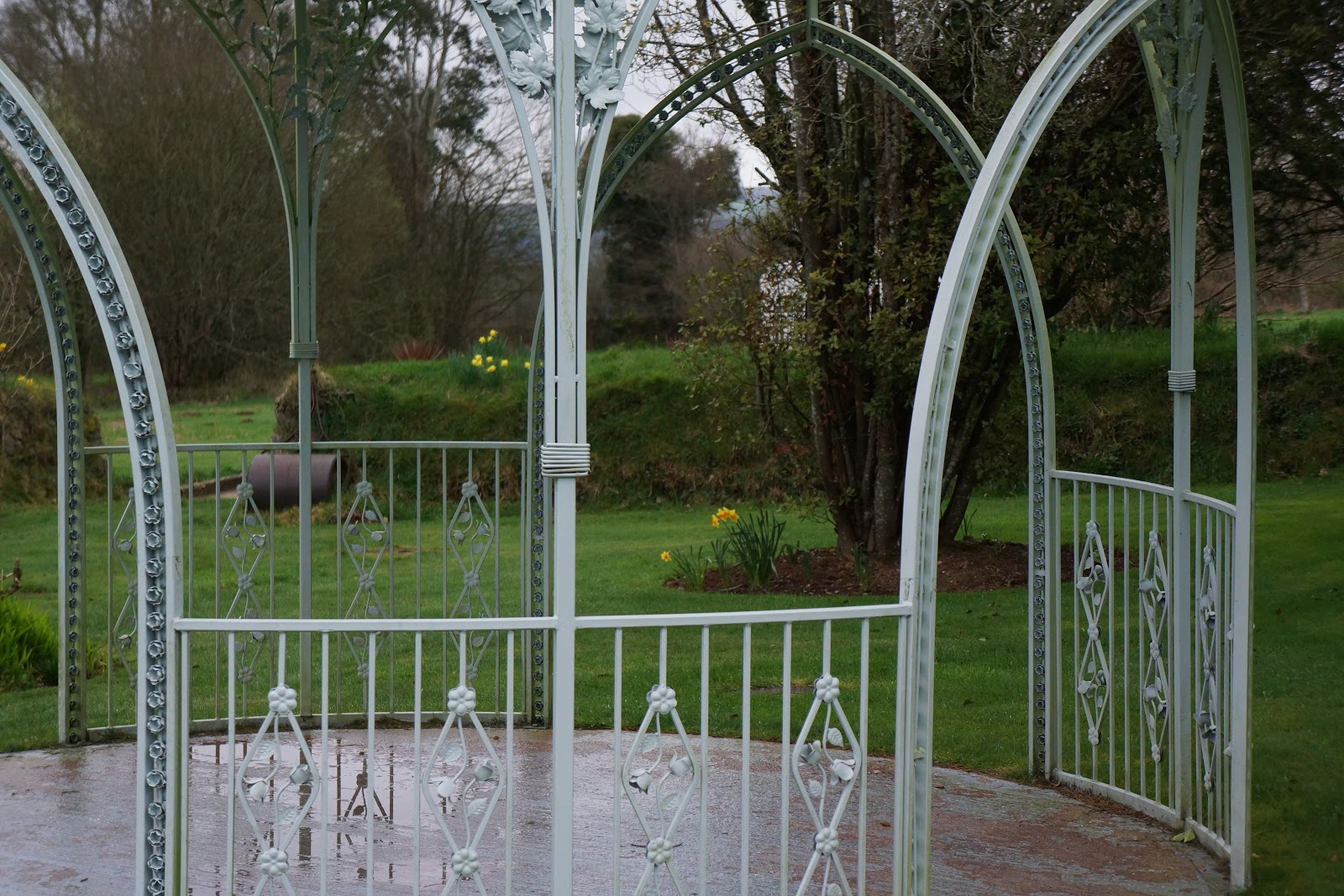 wedding pavillion iron fence