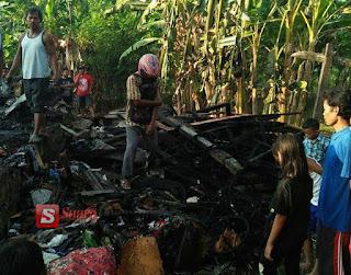 Akibat Kebocoran Gas LPG Satu Rumah Hangus Terbakar