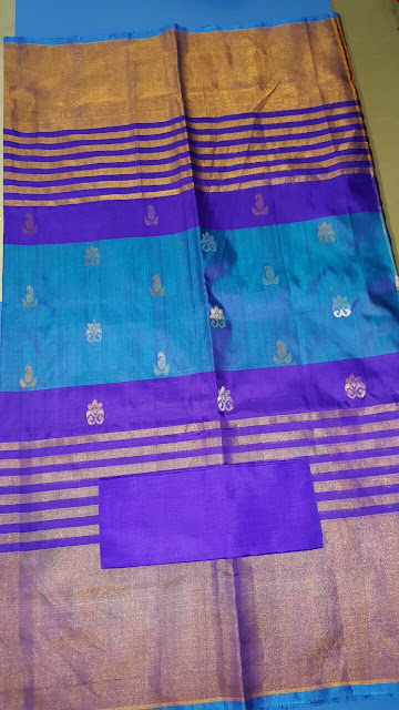 Uppada multi color jamdani handloom silk saree