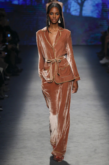 Fashion and beauty's A-Z, V is for velvet a big trend for fall and winter, including this Alberta Ferretti suit