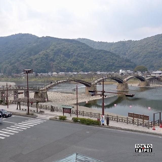 【橋之駅】錦帶橋旁的展望市場 制高點看美景還可買土產