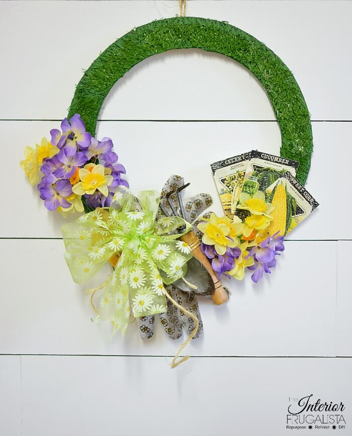 Handmade Spring Or Summer Wreath Craft
