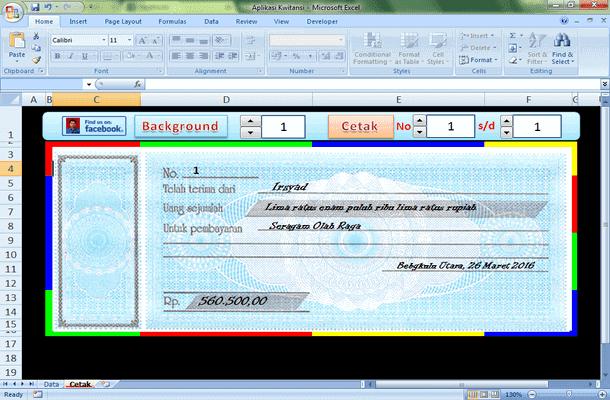 Aplikasi Kwitansi Otomatis Format Microsoft Excel