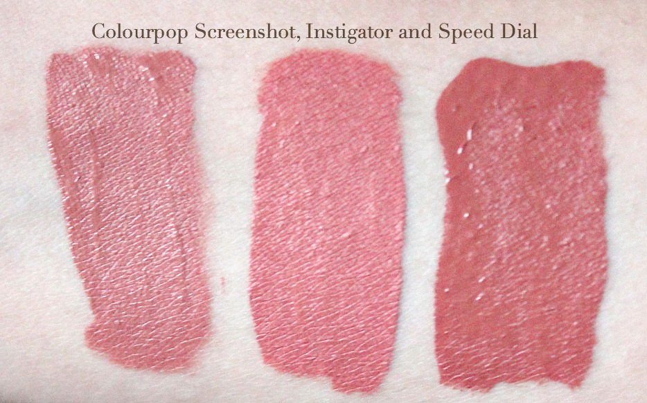 colourpop just peachy trio review and swatches colourpop speed dial colourpop instigator colourpop screen shot