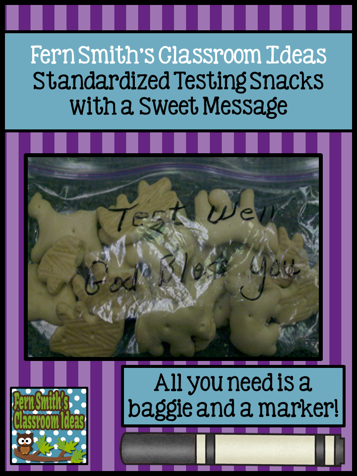 Fern Smith's Classroom Ideas FCAT {Testing} Snack Idea!