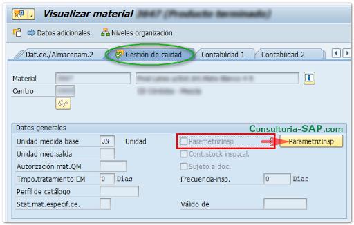 Vista Gestión de Calidad en SAP MM - Consultoria-SAP