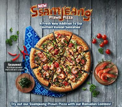 Jom Cuba Menu Baru Sensasi Korea Domino - Ssamjeang Prawn Pizza
