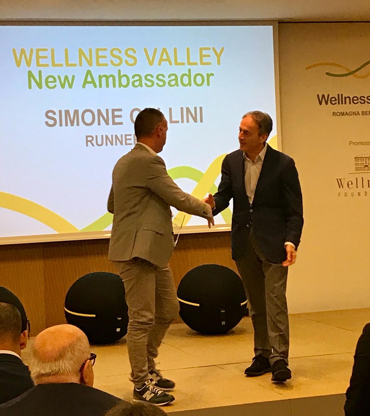 Simone Cellini premiato da Nerio Alessandri
