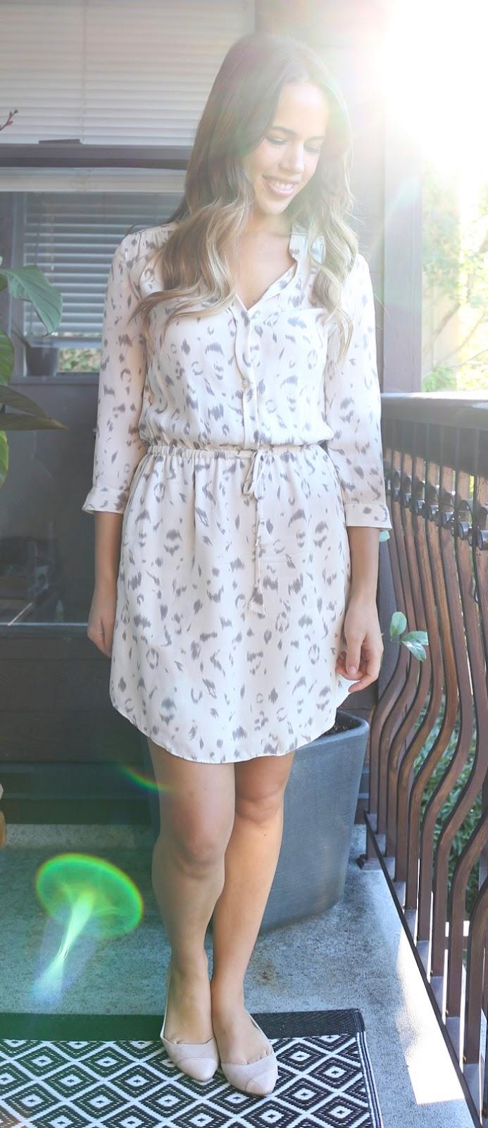 Jules in Flats September Outfit - Aritzia Bennett Dress, Aldo Flats