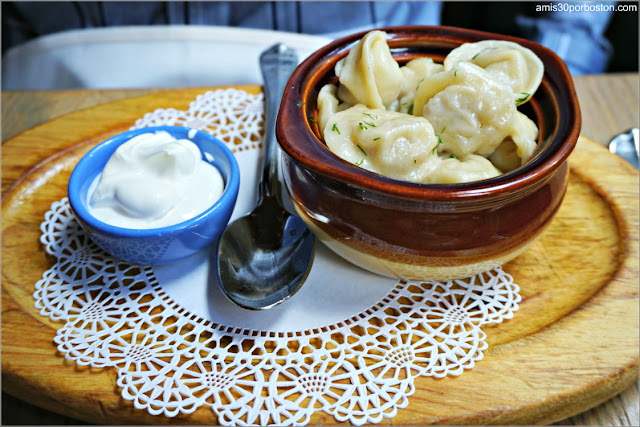 Siberian Pelmeni del Restaurante Ruso Mari Vanna en Nueva York