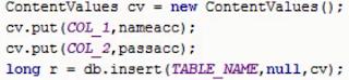 thêm dữ liệu trong SQLite 1