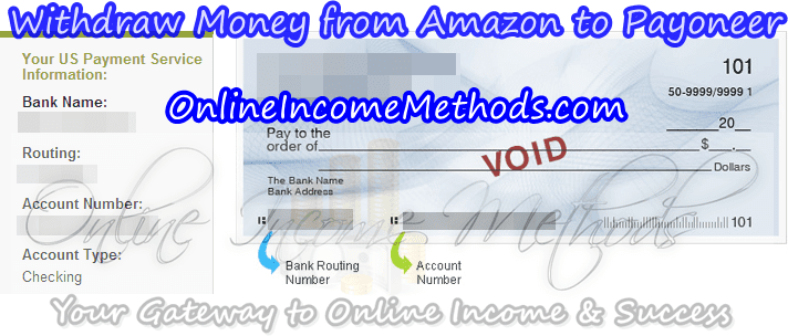 Withdraw Money from Amazon Using Payoneer