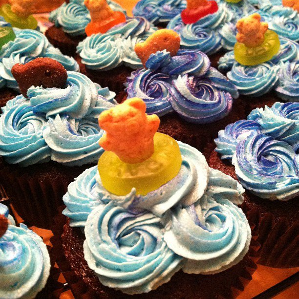 Cakes By Becky: Pool Party/End Of Year Celebration Cupcakes