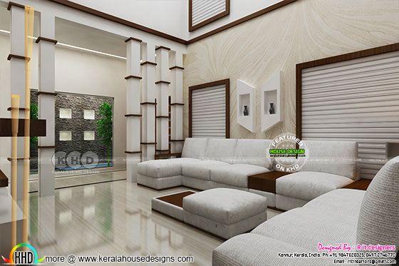 Modern interior design in Kerala