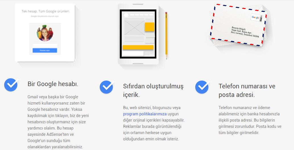Google adsense hesap nasıl onaylatılır, google adsense hesap onaylatma yöntemleri, google adsense üyeliği nasıl yapılır