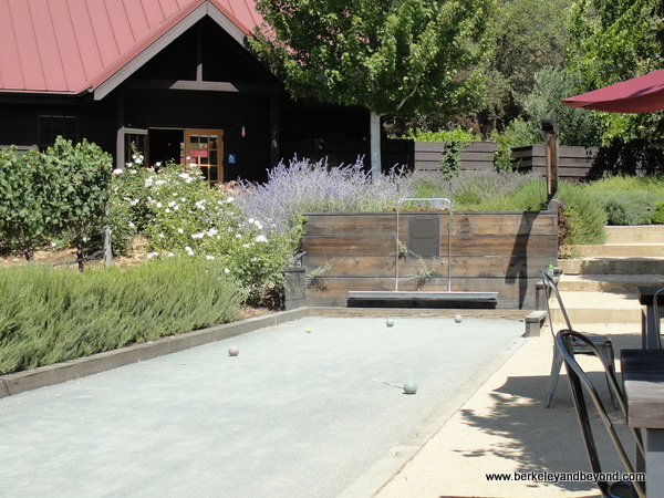 bocce court at Balo Vineyards in Philo, California