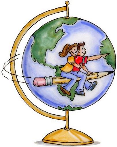 Dibujo de bola del mundo infantil