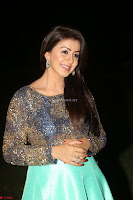 Nikki Galrani in Green Skirt  Top at Marakathamani music launch ~  Exclusive (129).JPG