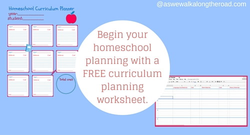 curriculum planning worksheet