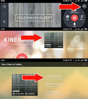 KineMaster Intro Video YouTube dengan android
