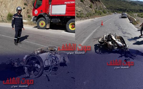 حادث مرور بمنطقة الشلالات ببني حواء
