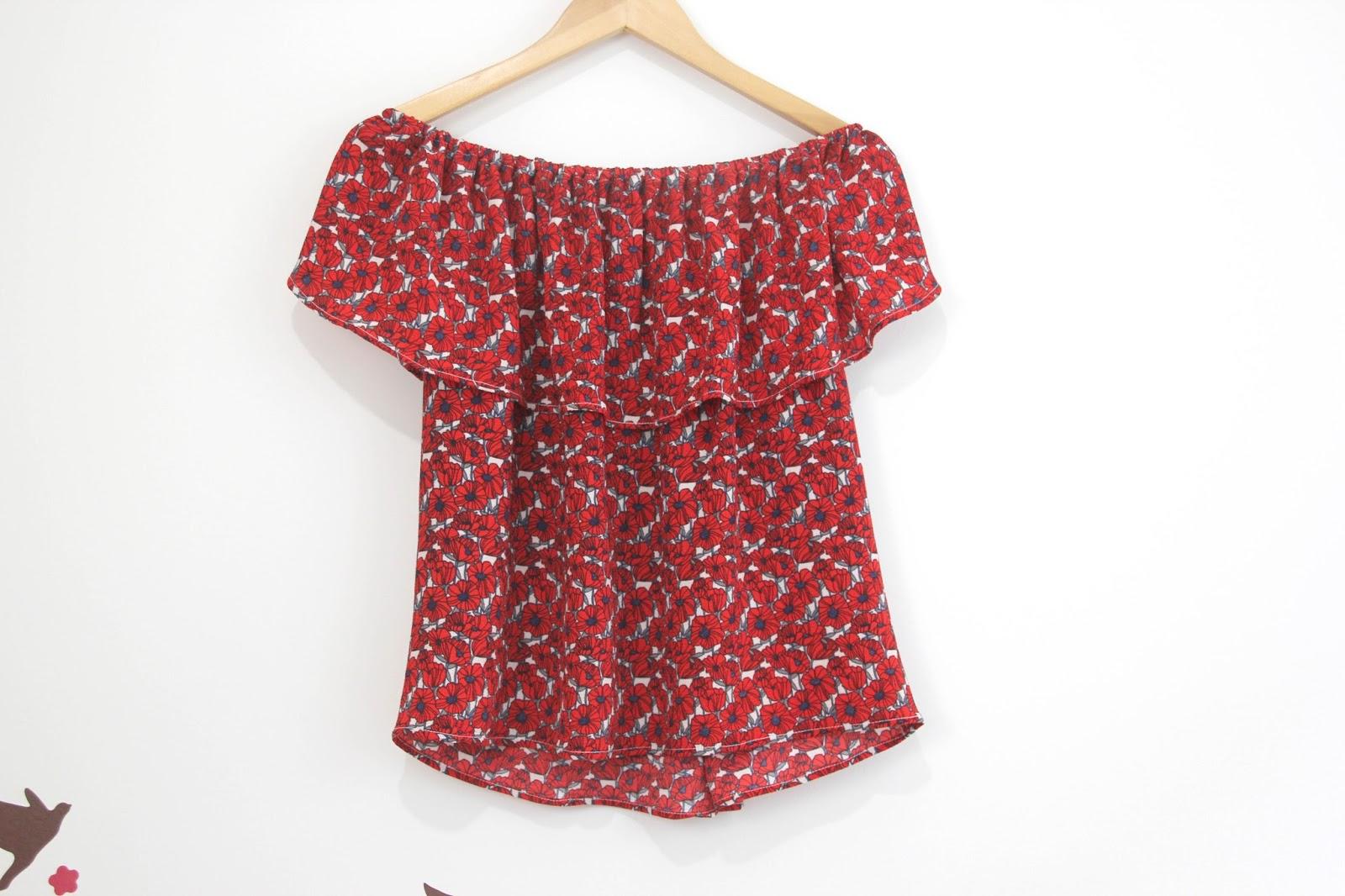 Diy tutorial y patrones blusa sin hombros oh mother mine diy - Marcador de ropa mine el corte ingles ...